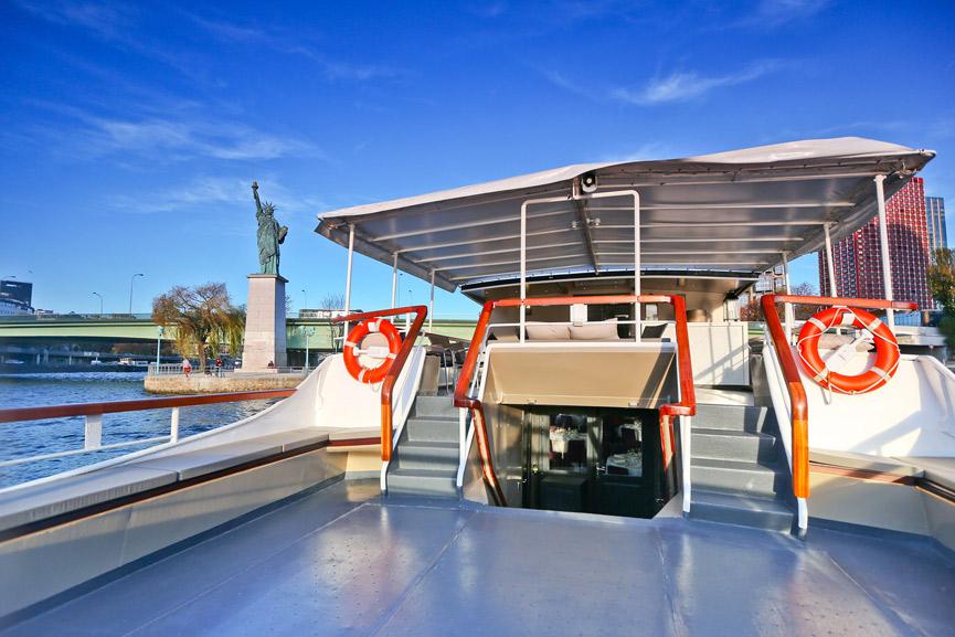 privatisation bateau Paris avec terrasse exterieure